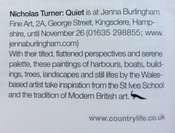 Nicholas Turner Exhibition in Country Life Magazine