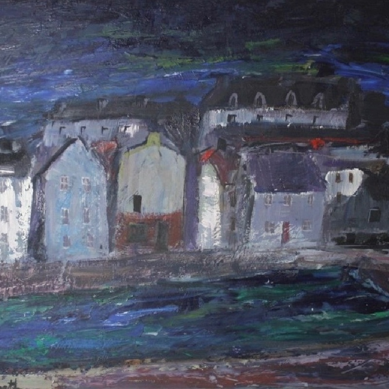 Anne Redpath, A Village In Fife, from Jenna Burlingham Fine Art at The Decorative Fair, Winter 2016