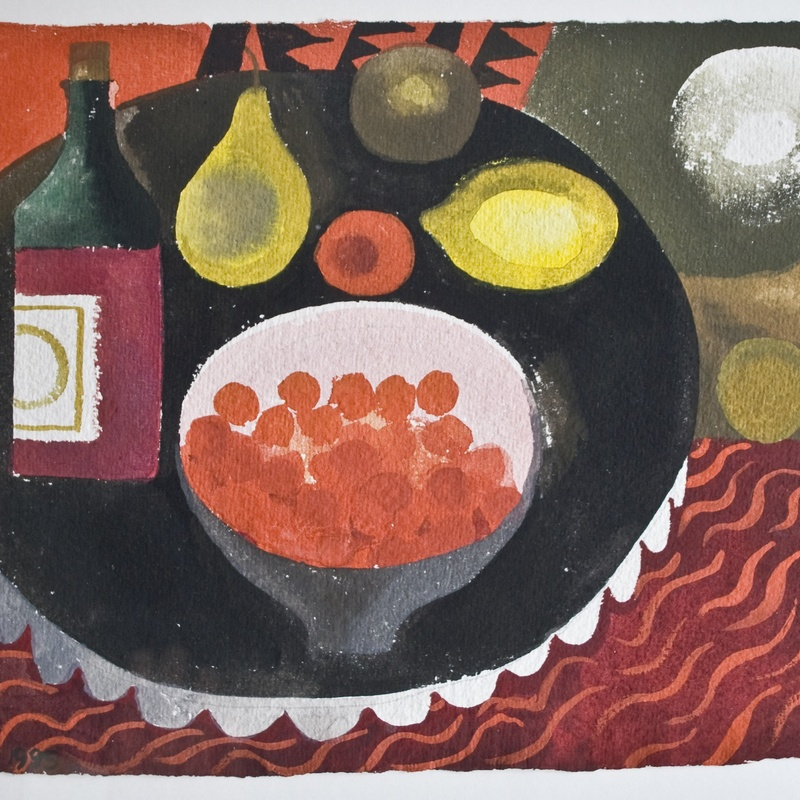 Mary Fedden  Duck Eggs and Lemons